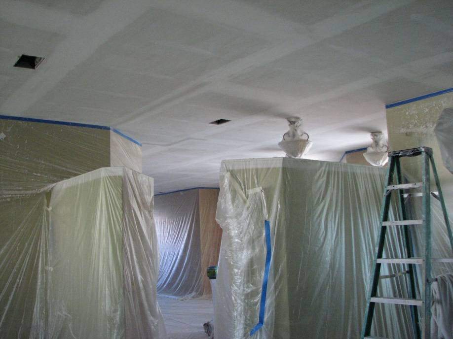how to repair loose drywall tape on popcorn ceiling